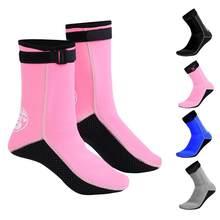 HISEA-Calcetines DE BUCEO antideslizantes, 3MM, para natación, aletas, buceo, mantener el calor, zapatos de playa, calcetines de baño, botas de surf