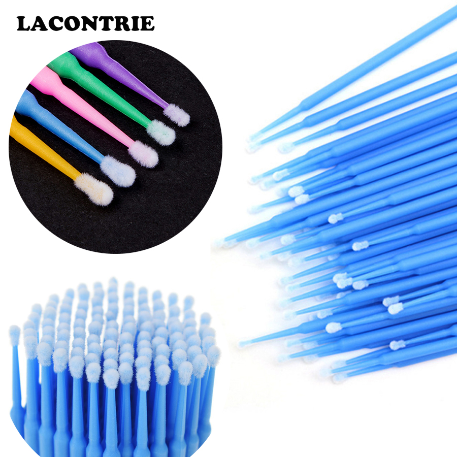 100pcs Makeup Brushes Disposable Micro Applicators Brush Eyelash Extension Supplies Lashes Accessories