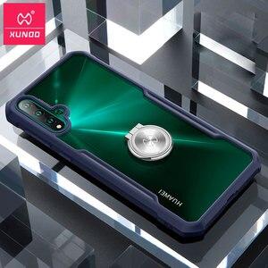 Image 2 - עבור Huawei נובה 5 טלפון מעטפת XUNDD כרית אוויר עמיד הלם 360 מגן שקוף חזרה כיסוי עבור Huawei נובה 5 פרו 5T Funda чехол
