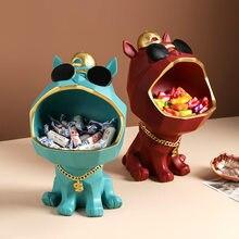 Nordique lumière luxe créatif grande bouche chien ornements stockage ornements décoration de la maison accessoires salon décoration cadeau