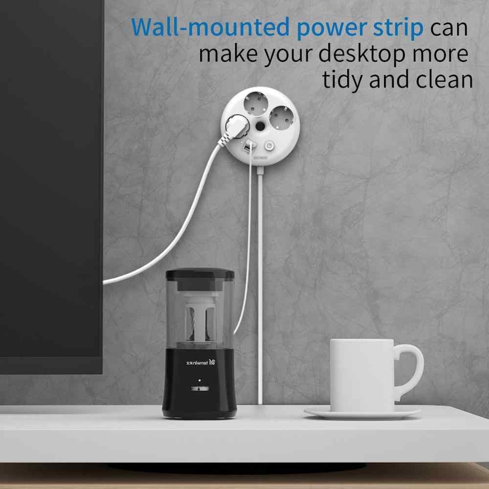 Ntonpower Netwerk Filter Usb Power Strip Voor Reizen Universele Stopcontact Eu Plug Verlengsnoer Popsocket Voor Telefoon