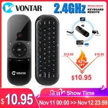 VONTAR Air Maus Wiederaufladbare Englisch Russische 2,4 GHZ Drahtlose Tastatur Fernbedienung Für Windows Android TV Box PC gamer