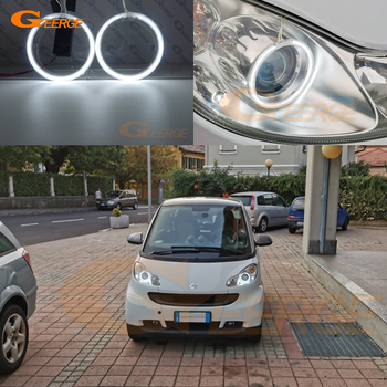 Excellent Ultra bright illumination CCFL Angel Eyes kit Halo Ring For Smart Fortwo W451 2007 2008 2009 2010 2011 2012 2013 2014 for ford c max mki 2008 2009 2010 xenon headlight excellent angel eyes ultra bright illumination ccfl angel eyes kit halo ring