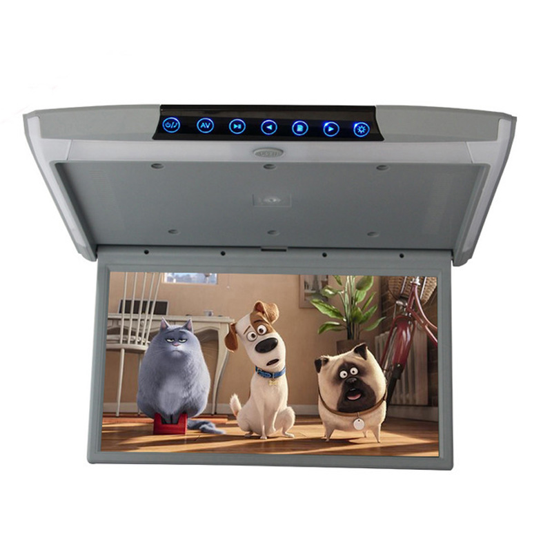 17.3 Inch <font><b>IPS</b></font> Screen Android 8.1 Car Monitor Ceiling Mount Roof Full HD 1920x1080P Video WIFI/<font><b>HDMI</b></font>/USB/SD/FM/Bluetooth/Speaker image