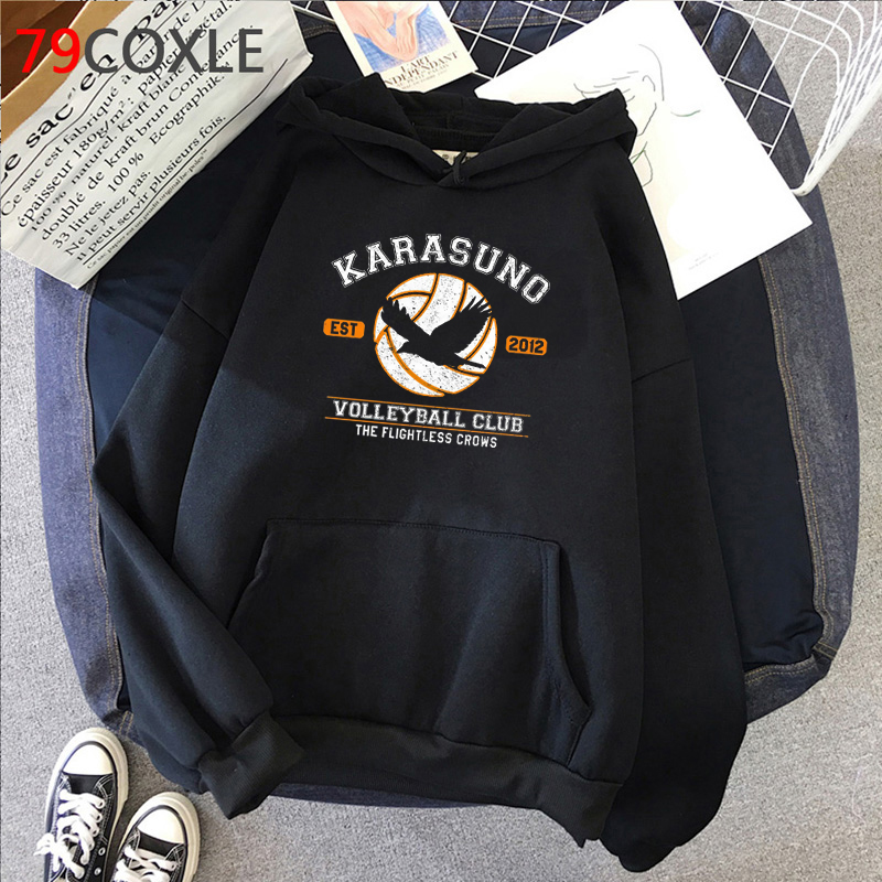 Oya Oya Oya Haikyuu Anime Hoodies Men Kawaii Karasuno Volleyball Graphic Streetwear Harajuku Unisex Hip Hop Sweatshirts Male
