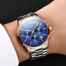 LIGE Mens Wristwatch Blue Quartz Watch For Men Waterproof Military Sport Watches Men Luxury Brand Male Clock Relogio Masculino creative brand men watch steel luxury quartz business wristwatch waterproof clock military sport male watches relogio montre