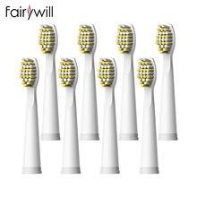 Fairywill – têtes de brosse à dents de remplacement, poils souples, nettoyage solide pour FW-507 FW-508 FW-917 FW-959 FW-551
