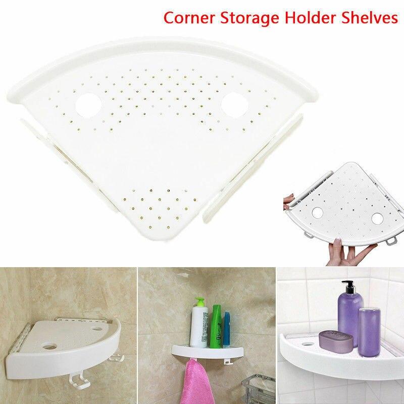 Fashion Durable Bathroom Corner Shelf Shower Storage Caddy Rack Organiser Tray Holder Accessory