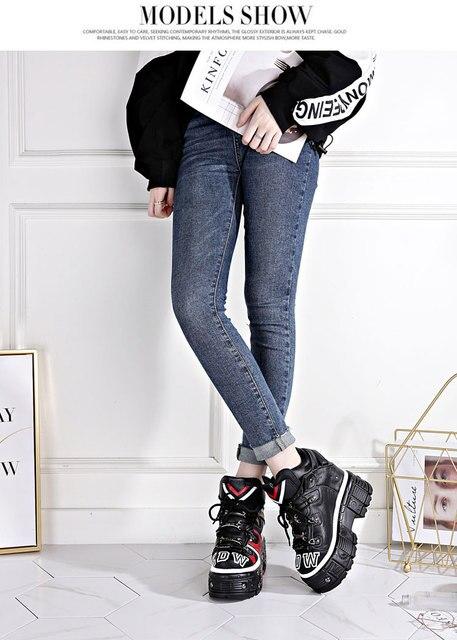 2019 automne nouvelle version coréenne de la pleine peau de vache en cuir augmenté chaussures de sport