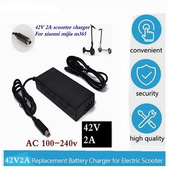 42V 2A Lowest price Electric Scooter Charger Adapter for Xiaomi Mijia M365 Ninebot Es1 Es2 Electric Scooter Accessories charger scooter head handle bag life waterproof for xiaomi mijia m365 electric scooter ninebot es1 es2 tool charger battery bottle bag