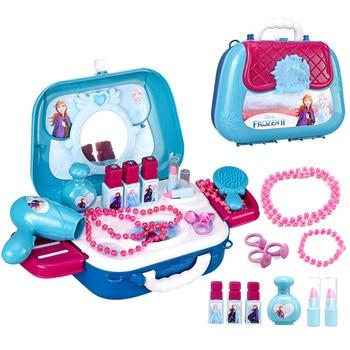 disney frozen 2 princess girls frozen elsa anna  makeup box set toys with led light kids  cosmetics Pretend Play girls toys недорого