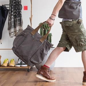 Image 1 - AETOO فصل تصميم الفرعية الأم حقيبة قماش قنب حزمة من المزدوج الاستخدام الذكور مائل تحمل سعة كبيرة حقيبة خاصة