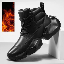 Winter Leather Men Running Shoes Shoes Thick Bottom