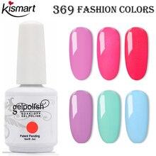 Kismart 15ml botella grande Gel de Gel UV/LED remojo esmalte de uñas de Gel laca para esmalte de uñas capa superior arte de uñas barniz