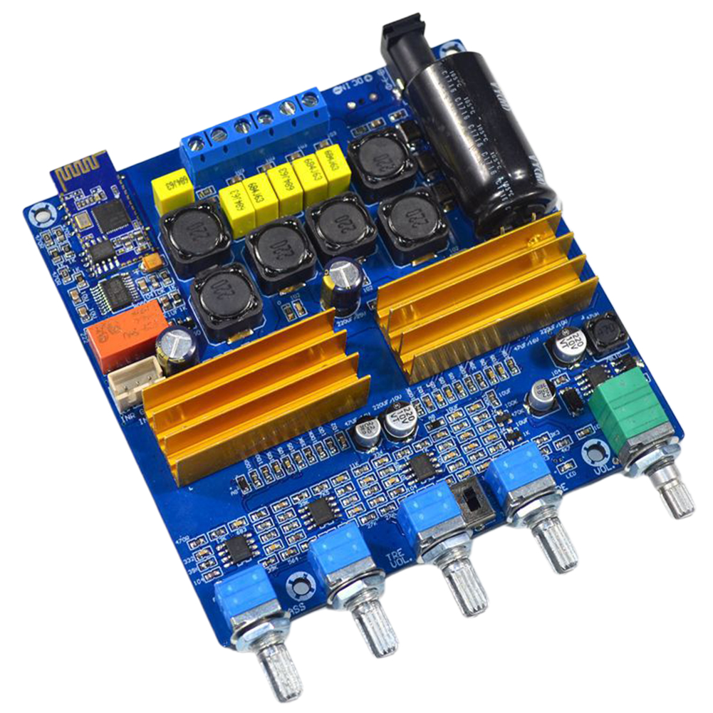 TPA3116 Stable Subwoofer Electronic Amplifier Board HIFI 2.1 Channel Digital Power Audio Wide Voltage Integrated Bluetooth 5.0 image