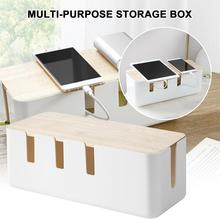 Cable Storage Box Power Strip Wire Case Anti Dust Charger Socket Organizer Network Line Storage Bin Charger Wire Management power cord wire centralized storage box green