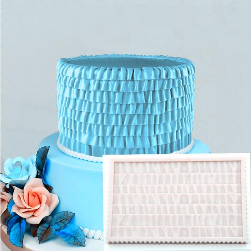 Skirt Cake Mould Fondant Cake Decorating Tool Silicone Molds Sugercrafts Chocolate Baking Tools For Cakes Gumpaste Fimo