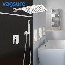 Vagsure 1 3 способа cupc латунный смеситель для душа набор хромированная