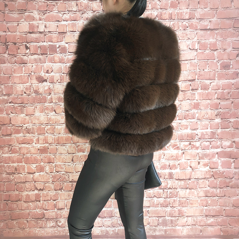 2019 new style real fur coat 100% natural fur jacket female winter warm leather fox fur coat high quality fur vest Free shipping 179