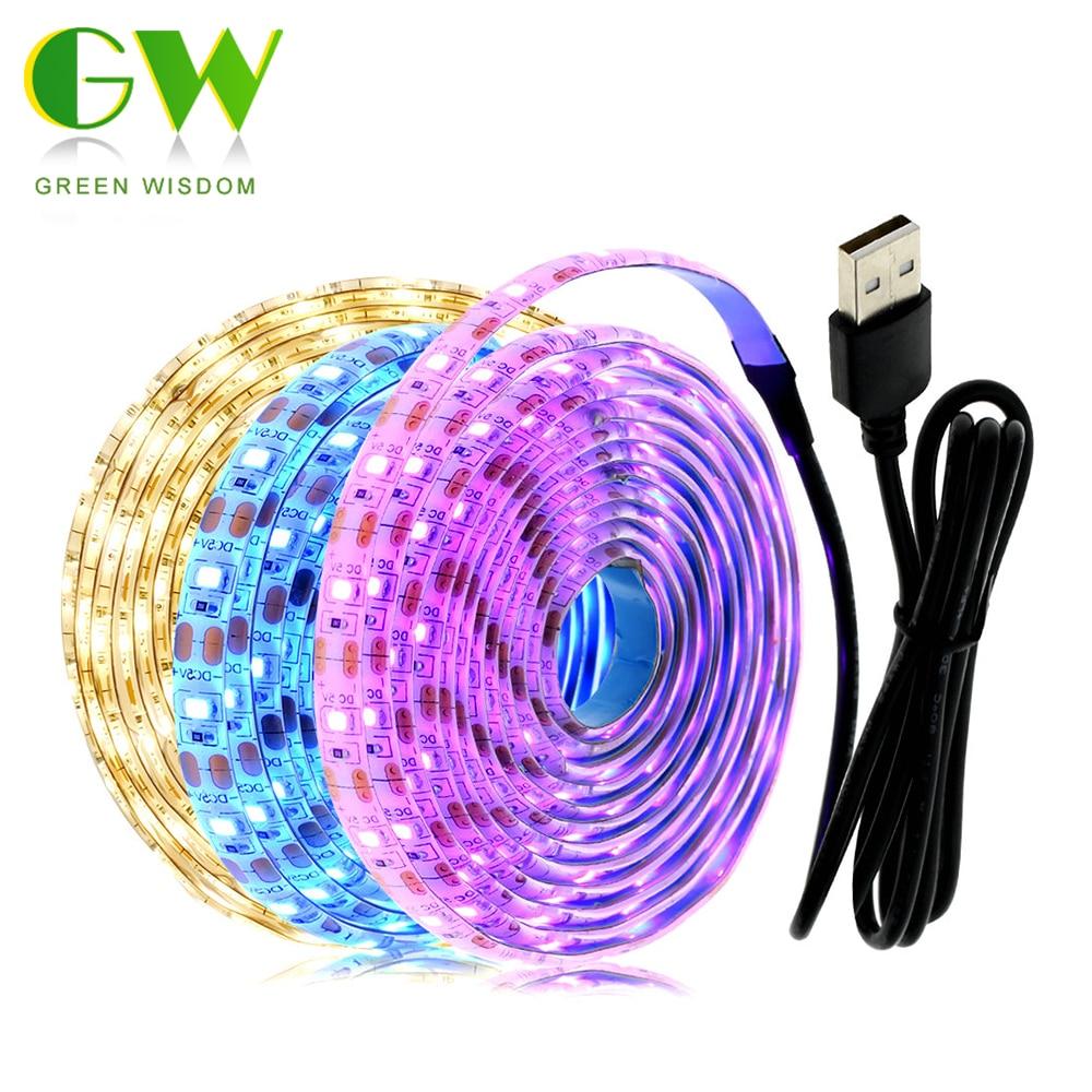 2835 5V RGB LED Strip Light USB TV Backlight Lights Lamp Tape Ribbon Ambilight