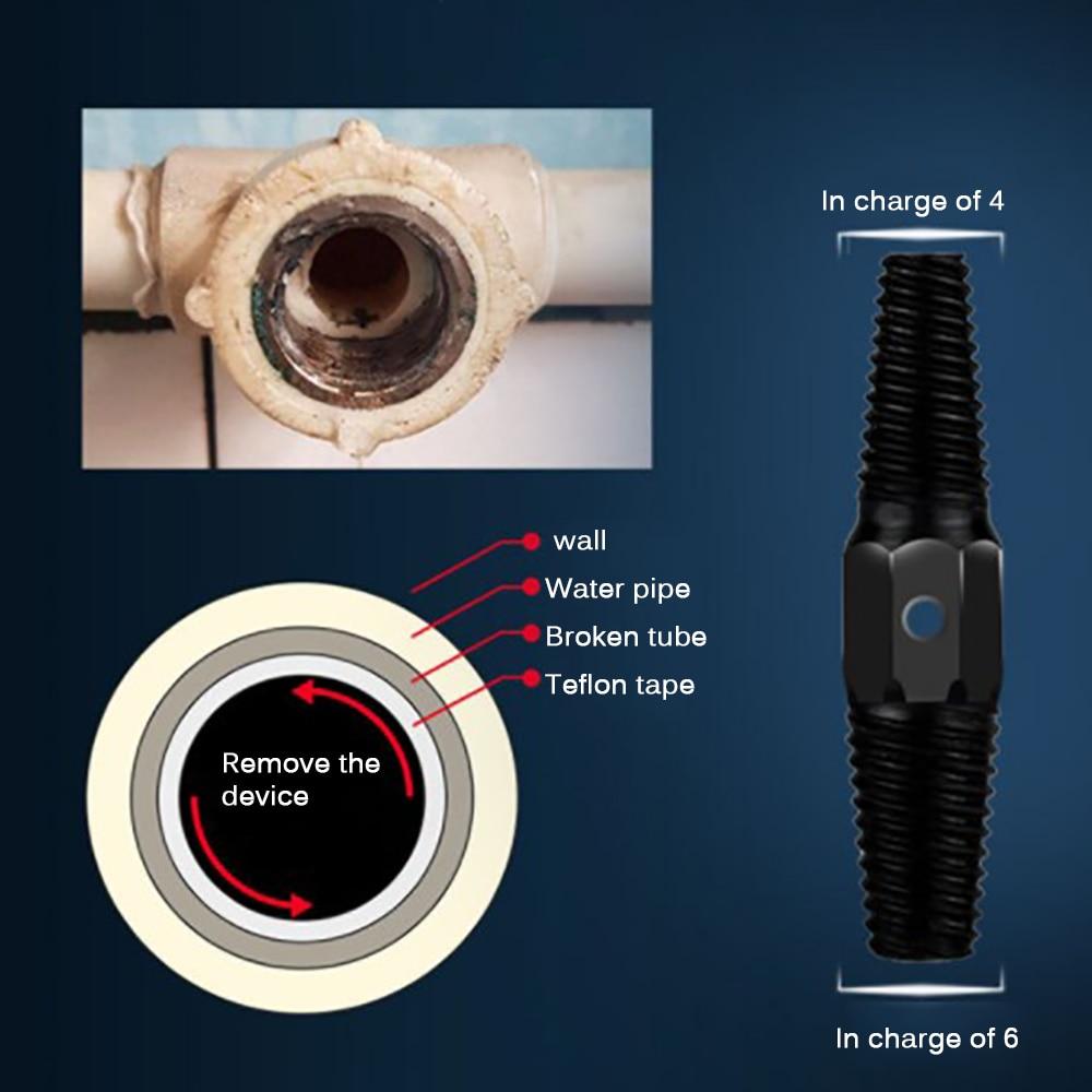 3//4 de di/ámetro grande Extractor de tornillos rotos tubo de doble cabeza Extractor de tornillos rotos Extractor de tornillos da/ñados para tubos de 1//2