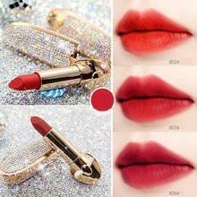 ZHENDUO 6 colors velvet matte lipstick Star diamond bright gold leaf long-lasting  moistening beauty makeup red lip stick
