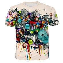 2021 new summer fashion art color graffiti 3D-printed T-shirt boys and girls casual T-shirt street fashion cool top T-shirt