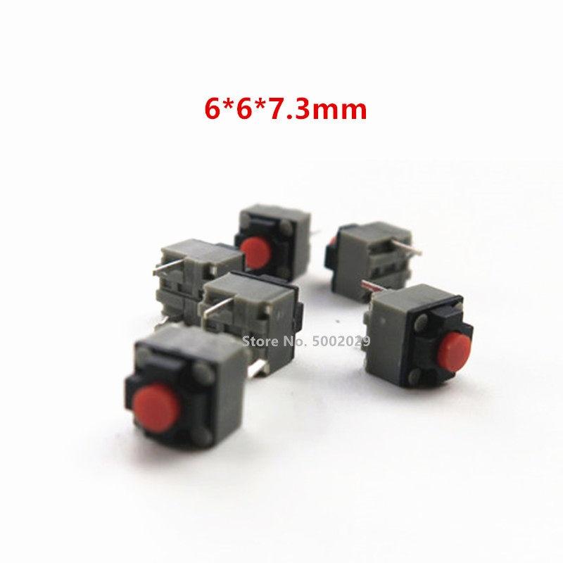 10-100 шт. Kailh 6*6*7,3 мм квадратная Бесшумная мышь микропереключатель кнопка мыши может заменить прямоугольный микропереключатель 8 миллионов жи...