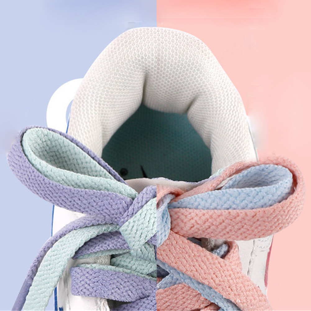 Flat Solid Shoelaces Women Sweet Candy Color Casual Shoe Laces Sneakers Shoelace Fashion Canvas Shoestring Girl Shoe Accessories