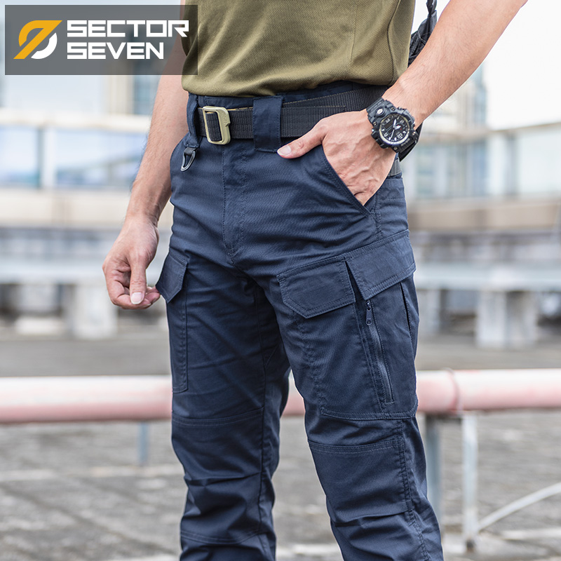 Sector Seven IX10 Tactical Pants Waterproof Silm Mens Trousers Casual Pants Men Army Military Tactical Pants Male