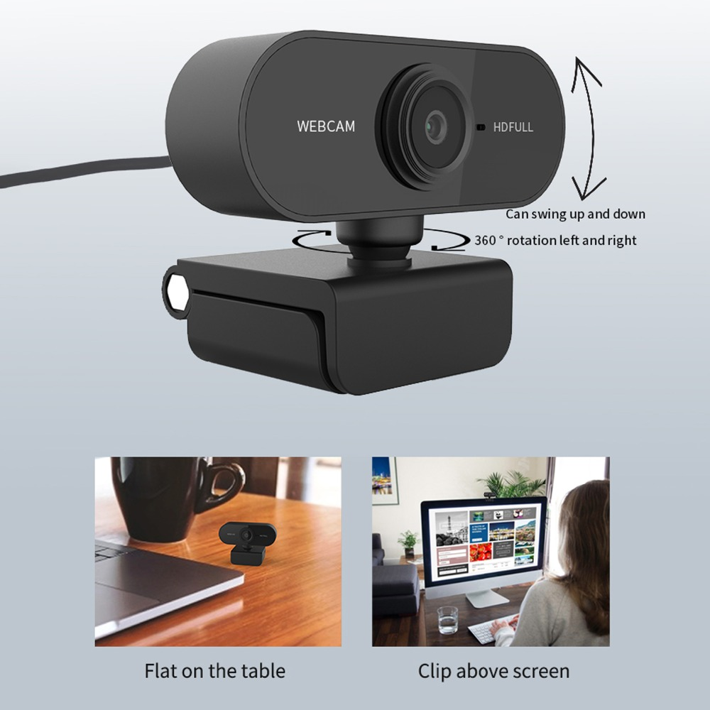 2-5 Million Pixels Auto Focus Webcam HD 1080P Webcam Built-in Microphone High-end Video Call Drive-free Web Camera for PC Laptop