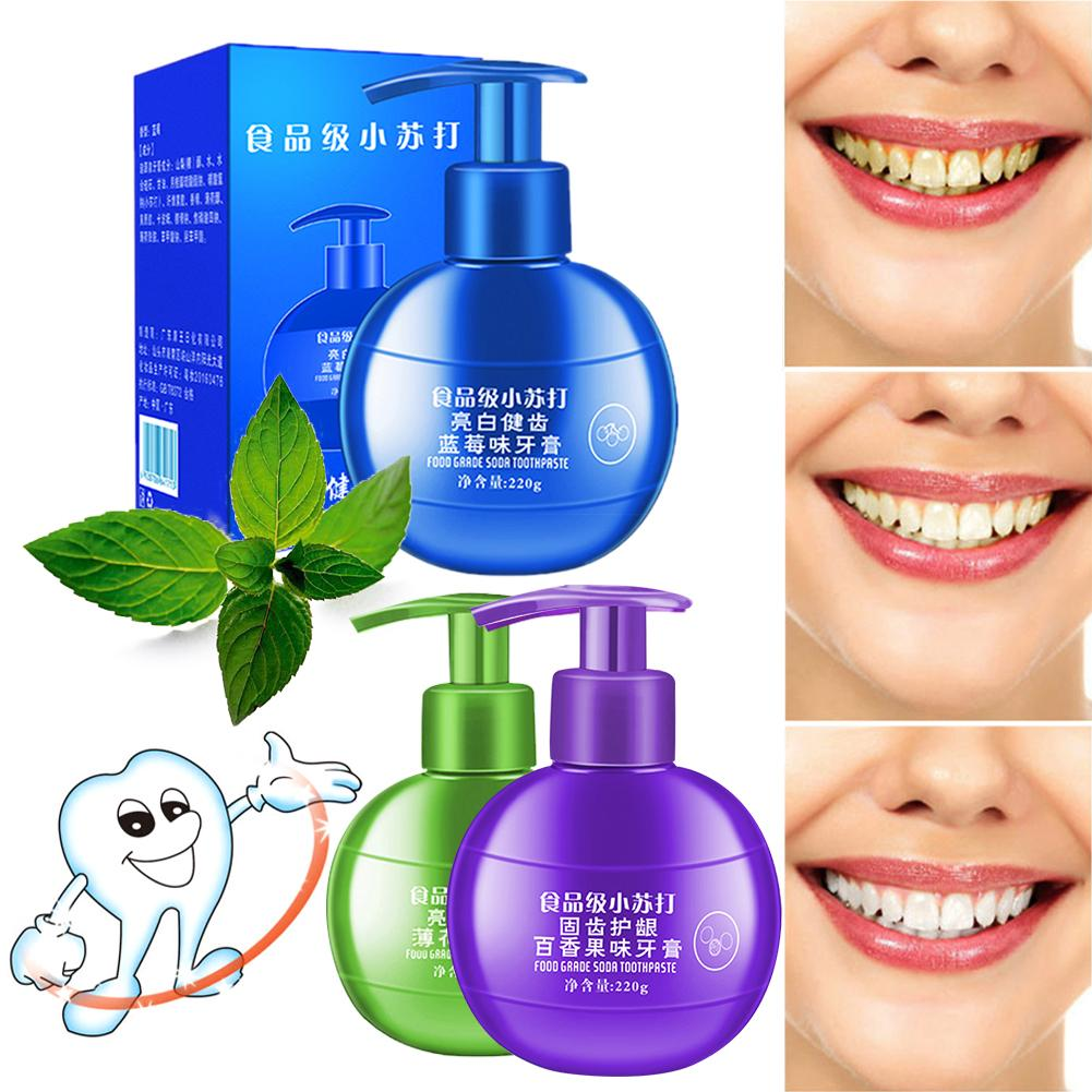 3colors refreshing remove stains whitening toothpaste anti-gingival bleeding toothpaste teeth cleaning, oral care whitening type image