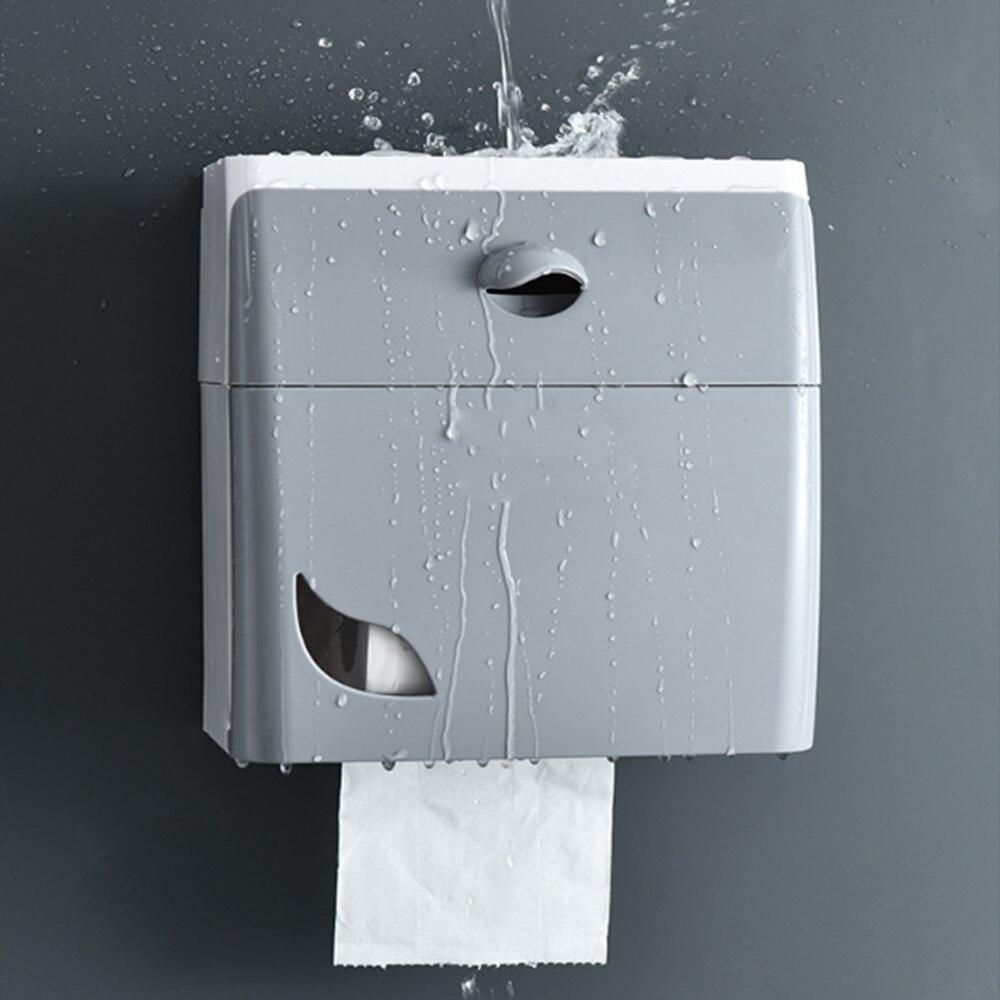 Waterproof Bathroom Paper Holder Wall Toilet Roll Holder Towel Holder Wall Mounted Wc Roll Paper Stand Case Bathroom Accessories
