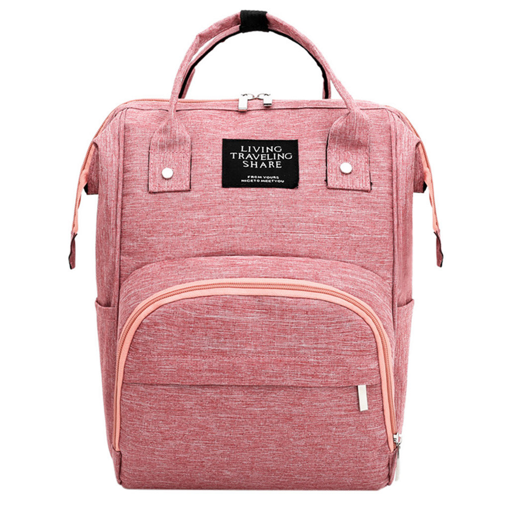 Diaper Bag Backpack USB Bottle Insulation Bags Minnie Mickey Big Capacity Travel Oxford Feeding Baby Mummy Handbag