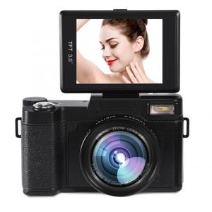 Image 1 - 24MP 풀 HD 1080P 4 배 디지털 줌 카메라 180 학위 회전 스크린 카메라 비디오 Vlog 카메라 캠코더