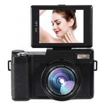 24MP كامل HD 1080P 4 مرات كاميرا زووم الرقمية 180 درجة تدوير شاشة كاميرا فيديو كاميرا تسجيل الفيديو كاميرا