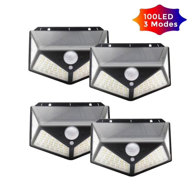 118/100 LED Solar Light Outdoor Solar Lamp PIR Motion Sensor Wall Light Waterproof Solar Sunlight Powered Garden Street Light