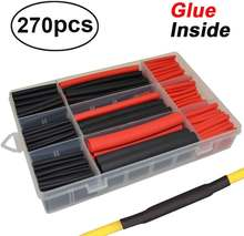 270 шт/компл 3:1 комплект трубок для электропроводов и кабелей