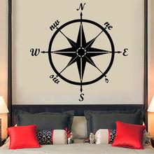 Наклейка на стену живопись компас s для дома наклейка автомобиля