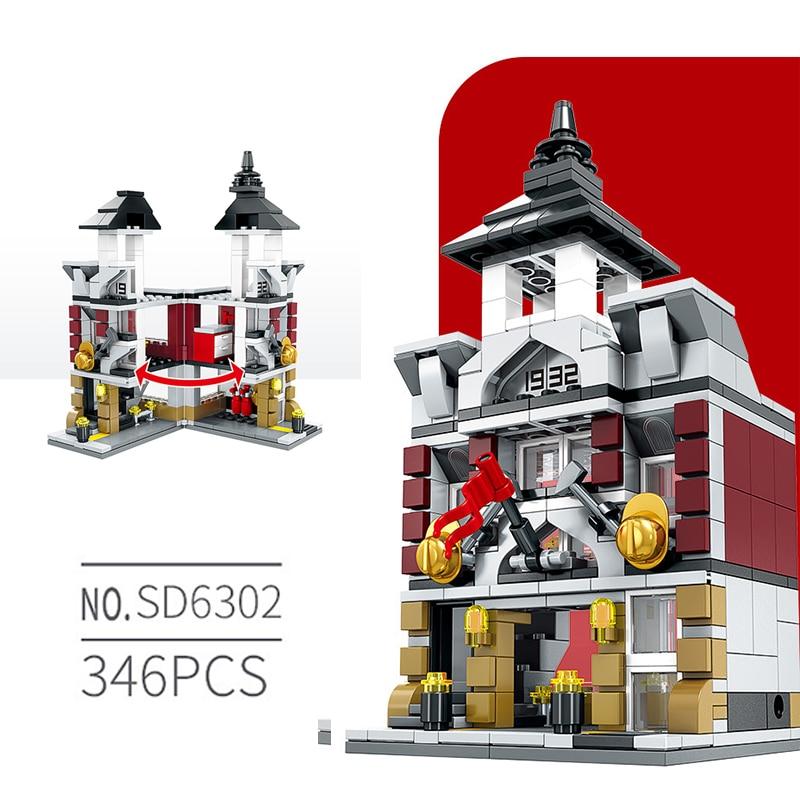 Free Shipping European Style Architecture Blocks Mini Street Building Bricks 4 Set Package Splice Educational Toys Gift