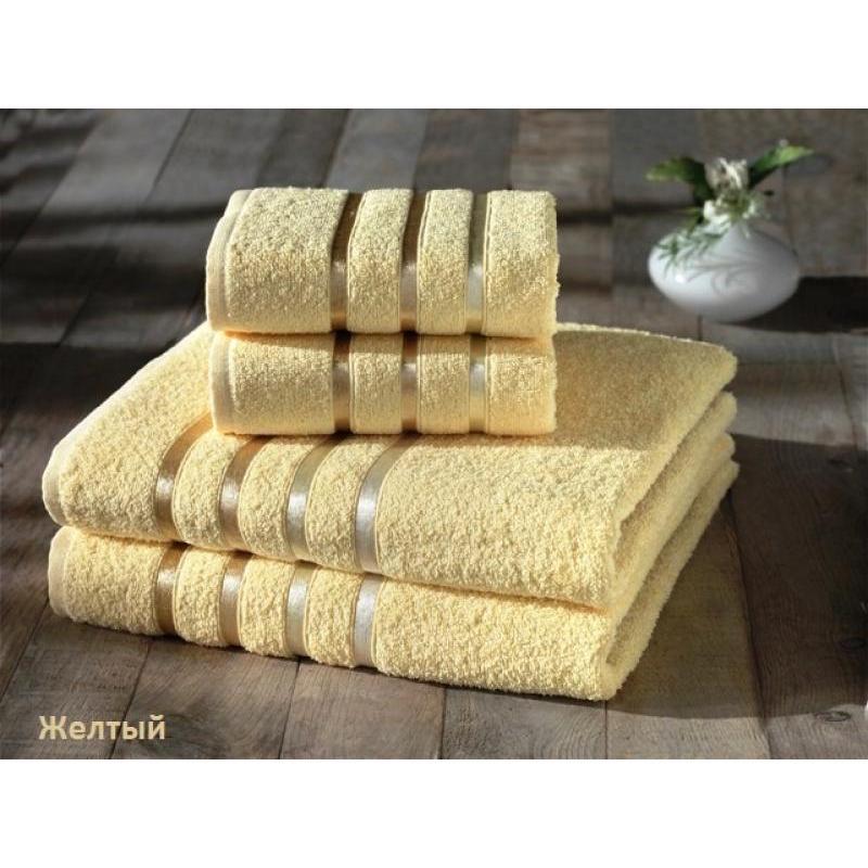 Set terry towel KARNA, BALE, 4 subject, yellow towel set karna bale dark yellow 4 subject