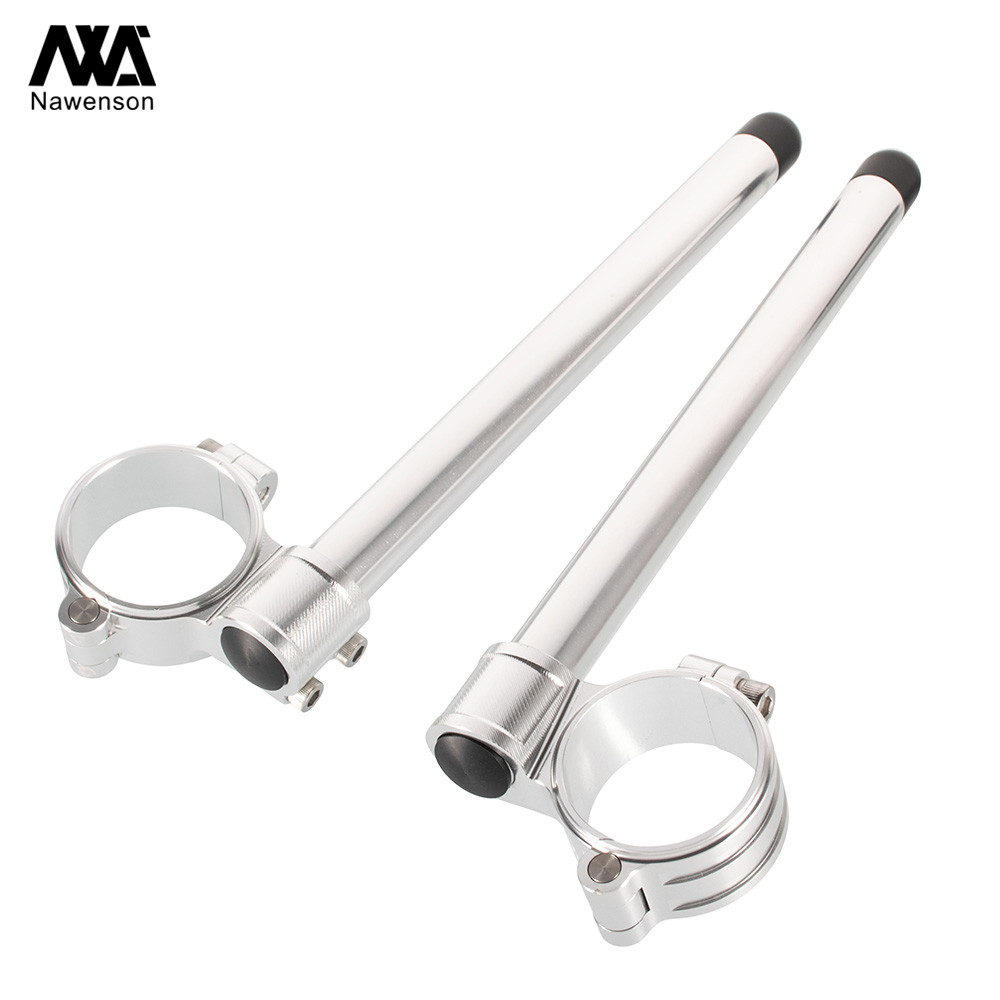 """72 For Honda CR125 1974-1978 NX125 1989-1992 35mm Motorcycle Clip-on Handlebars With 7/8"""" Tubes For CL450/CB500 72-74 CB750K 72-78 (2)"""