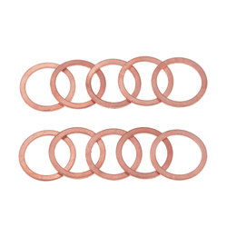 20PCS/Pack Solid Copper Washer Flat Ring Gasket Sump Plug Oil Seal Fittings 10*16*1MM Washers Fastener Hardware Accessories
