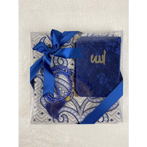 4 Different Color 3 in1 Pearl Rosary Prayer Rugs 70x110cm And Turkish Purport Velvet Clamshell Yasin Book Allah With Logo Digital Islam Quran Gift Box Carpet Hijab Tunic Ropa Mujer Musulmana Turquia Alfombra De Oración