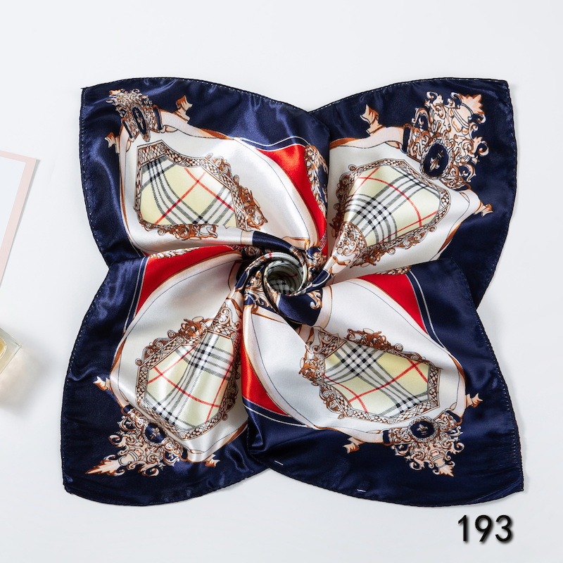 Scarves For Women Print Satin Square Silk Scarf Shawl Bandana For Head Large Hijab For Ladies 50X50cm X193