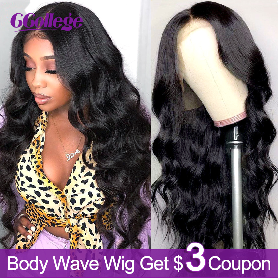 Ccollege Brazilian 30 Inch 13x6 Lace Front Wigs Body Wave Human Hair Pre Plucked With Baby Hair Wigs For Black Women Remy