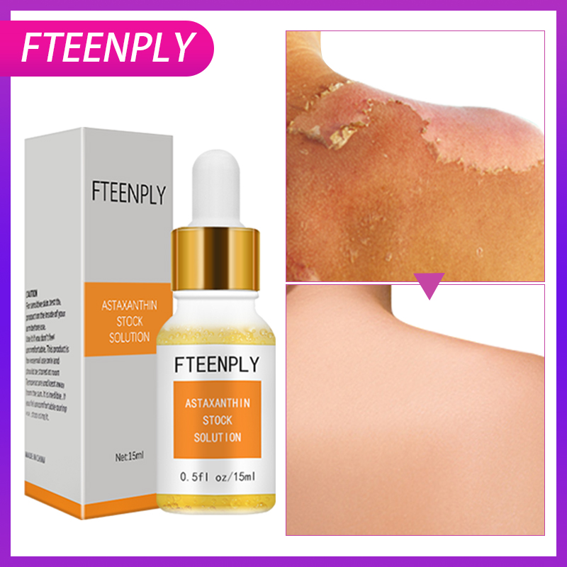 FTEENPLY Facial Serum Astaxanthin Stock Solution Concentrate Hyaluronic Acid Concentrate Whitening Repair Sunscreen Face Serum