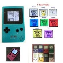 Paleta de 8 colores reacondicionada para consola GameBoy, consola de bolsillo para consola GBP con retroiluminación, consola LCD Mod