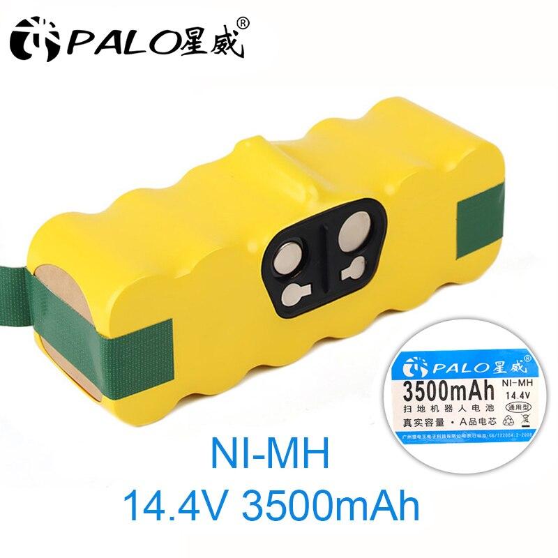 Palo 14.4 v ni-mh 3500 mah bateria para irobot roomba 500 600 700 800 900 série aspirador de pó irobot roomba 600 620 650 700 770