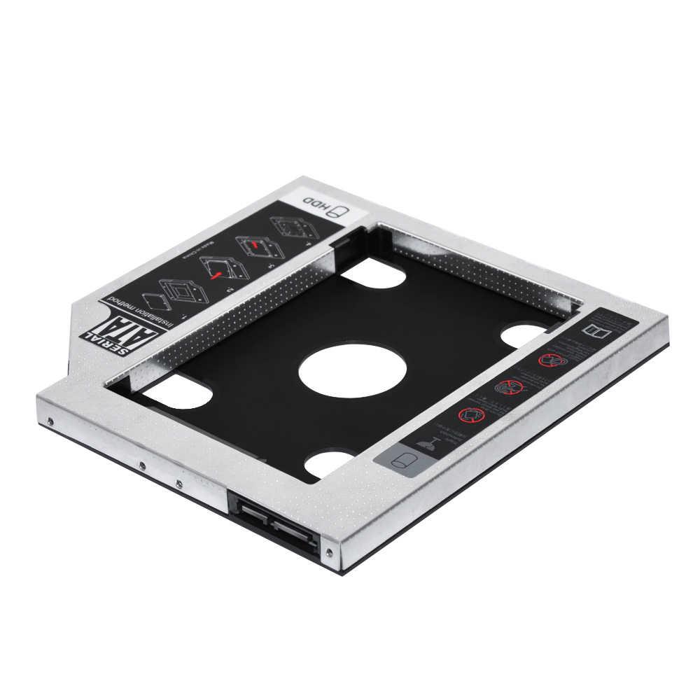 """Sunvalley stop aluminium i plastik 9.5mm 2. HDD Caddy SATA do SATA 3.0 na laptopa DVD/CD-ROM wnęka na napęd optyczny 2.5 """"HDD obudowa na ssd"""